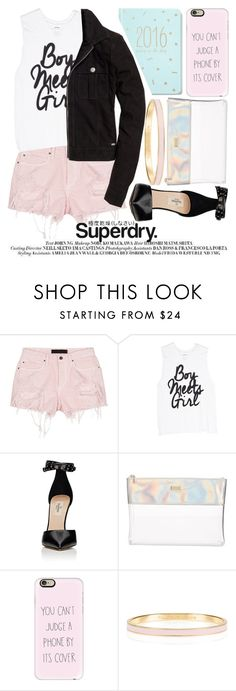 """The Cover Up – Jackets by Superdry: Contest Entry"" by noraaaaaaaaa ❤ liked on Polyvore featuring Alexander Wang, Valentino, ban.do, Casetify, Kate Spade and Superdry"