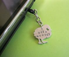 Not a Nugget Chick IPhoneIPad Android Dust Plug by crobinsondesign, $10.00
