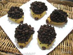 Chocolate chip cookies hedgehog
