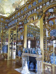 The Porcelain Room in the Charlottenburg Palace in Berlin, Germany. #Charlottenburg #Berlin www.avacationrental4me.com