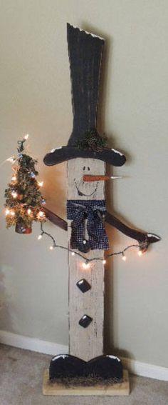 40 Brilliant DIY Snowman Craft Ideas For Amazing Winter - Cartoon District 40 Brilliant DIY Snowman Crafts Ideas for Amazing Winter Christmas Wood Crafts, Outdoor Christmas, Rustic Christmas, Christmas Projects, Christmas Art, Holiday Crafts, Christmas Holidays, Christmas Ornaments, Winter Wood Crafts