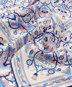 Cream Liberty London Lodden Silk Scarf | Scarves | Liberty.co.uk