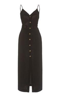 Paz Crepe Buttoned Midi Dress by NANUSHKA Now Available on Moda Operandi