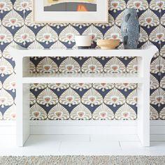 No pattern too bold. Palmetto Wallpaper. #serenaandlily