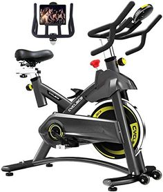 New Cyclace Exercise Bike Stationary 330 Lbs Weight Capacity- Indoor Cycling Bike Ipad Holder LCD Monitor Home Workout online shopping - Fancylookstar Bicycle Workout, Cycling Workout, Workout Fitness, Fitness Motivation, Best Exercise Bike, Exercise Bike Reviews, Exercise Cardio, Cardio Workouts, Fit Motivation