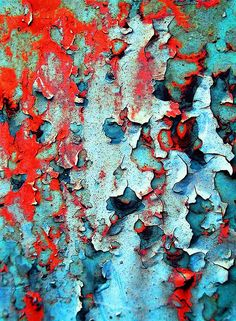 Colour Inspiration -Abstract (peeling paint) by tanakawho on Flickr