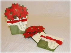 Angela's Craft Closet: Poinsettia Flower Pot Cards