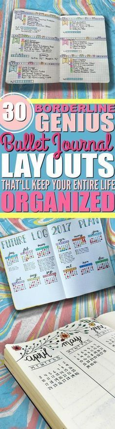 Bullet journal collection ideas | Bujo layouts | Bullet journal inspiration