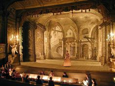 Český Krumlov Castle, trial production in the Castle Theatre - performance by…