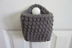 Hanging Basket Rectangle Wall Baskets Small Crocheted by maybe4you