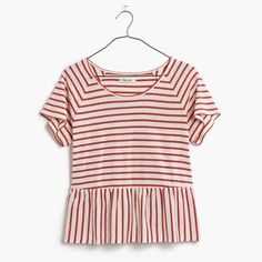$34.99 This swingy top features a gathered panel that gives it a kind of low-key peplum feel you can dress up or down without a hitch. In a fresh linen-cotton blend, this one will last you season after season. <ul><li>Slightly cropped, boxy fit.</li><li>Linen/cotton.</li><li>Machine wash.</li><li>Import.</li></ul>
