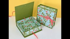 Lovely Lined Keepsake Gift Box with Petal Garden DSP by Stampin' Up Vide...
