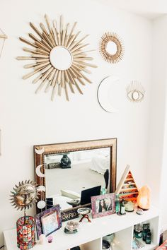 My Zen Space ✨ Diamond Perspective Wall Hanging, All Seeing Eye & Twilights by Lady Scorpio   Design by @kaitlynjohnsondesign ☽ ✩ Product by Lady Scorpio   Bohemian Bedroom String Lights Polaroids Boho Bungalow    Save 25% off all orders with code PINTERESTXO at checkout   Shop Now LadyScorpio101.com