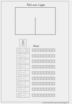 zahlen zerlegen 8 und 9 zahlen bis 10 mathe f r vorschulkinder mathematikunterricht und. Black Bedroom Furniture Sets. Home Design Ideas