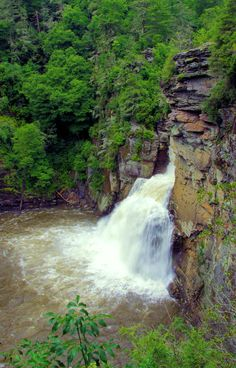 Linville Falls on the Blue Ridge Parkway in NC.