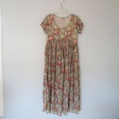 Vintage Romantic Floral Cotton Gauze Dress by WayWeVintage on Etsy