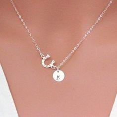 Good luck horseshoe necklace