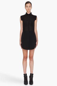 Alexander Wang Black Blend Silk Shirt Dress