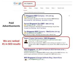 Search Engine Optimization (SEO Singapore) is about placing websites to the #1 of Google search. Our company consultants provide SEO services to help you rank.