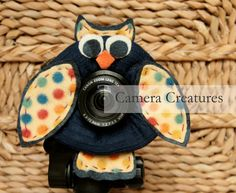 Camera Creatures Polka Dot Owl with Squeaker by CameraCreatures