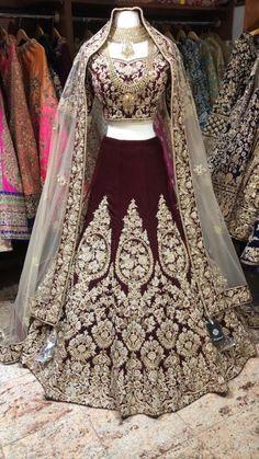 Maroon Zardozi Bridal Lehenga – Nazranaa You will find different rumors about the annals of the marriage dress; Wedding Lehenga Designs, Indian Wedding Lehenga, Pakistani Wedding Outfits, Designer Bridal Lehenga, Indian Bridal Outfits, Pakistani Wedding Dresses, Indian Dresses, Shadi Dresses, Wedding Sherwani