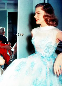 "Lauren Bacall behind the scenes of ""How to Marry a Millionaire"""