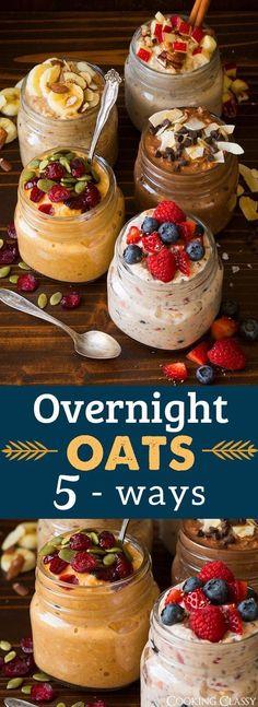 Overnight Oats Five Ways