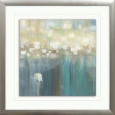 Aqua Light Framed Painting Print