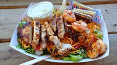 grilled chicken & shrimp salad!