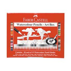 Faber-Castell Red Range Water Colour Pencils. These Water colour pencils have a rich colour that can be blended to create beautiful shading or brush with water for brilliant water colours.