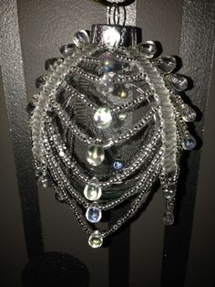 Clear Beaded Ornament Cover