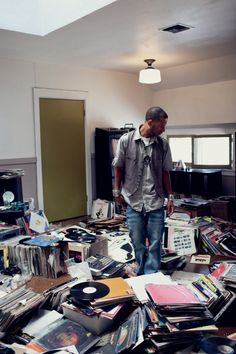 Madlib, the human record crate, at home in Los Angeles.