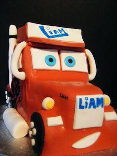 Gâteau d'anniversaire, cars