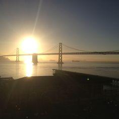 Sun rise in San Francisco