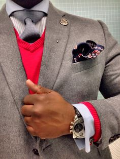 Big Men! We do it Best! The Look Details: Camel Hair Blazer: JC Penny Shirt: From K&G Cufflinks: by English Laundry Watch: Oulm at eBay.com Lapel Pin: By The Big Fashion Guy