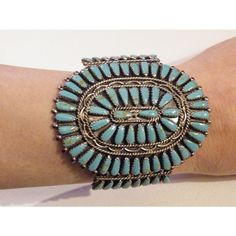I love turquoise jewelry. Native American Turquoise jewelry? Extra love. This antique bracelet is stunning. $950