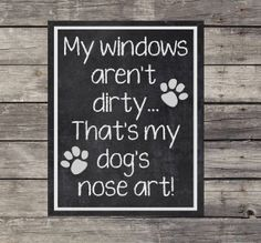 My windows aren't dirty... That's my dog's nose art!