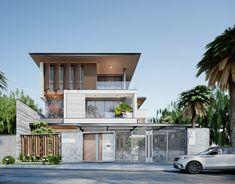 Duplex House Design, Small House Design, Luxury Homes Exterior, Exterior Design, Hotel Design Architecture, House Outside Design, Live In Style, House Elevation, Villa Design