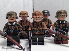 WWII German Waffen SS Custom Minifigures