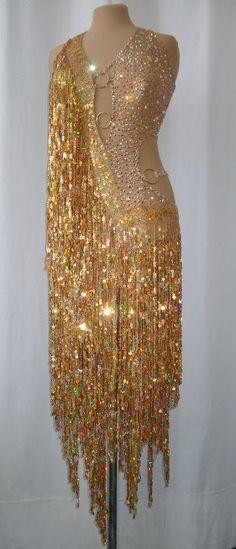 Gold Linique rhythm dress.  Would you wear this for comp? #danceRAL