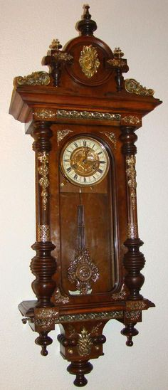 Extraordinary Beautiful Wall Clock with Music  c.1890