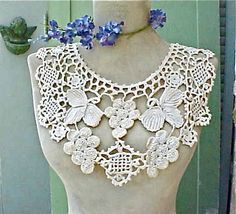 Charming Antique Crochet Collar with Grape by Moonmaidenemporium, $25.00