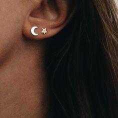 Amethyst ear cuff earring, blue feather ear cuff, raw amethyst ear cuff earring, no piercing elvish ear cuff, bohemian ear cuff - Custom Jewelry Ideas Double Ear Piercings, Ear Peircings, Cute Ear Piercings, Gold Bar Earrings, Circle Earrings, Heart Earrings, Diamond Earrings, Small Earrings, Double Earrings
