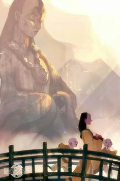 Peaceful morning at the air temple #AvatartheLegendofAang. Credit to the artist