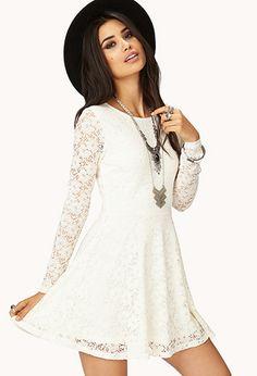 Femme Floral Crochet Skater Dress #ForeverHoliday