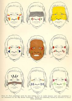 fancy warrior paint #SpiritHoods #InnerAnimal Native American Face Paint, Native American Warrior, Native American Symbols, Native American History, Native American Indians, Indian Face Paints, Tribal Face Paints, Paint Meaning, Woodland Indians