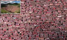China home to largest Buddhist settlement in the world   Daily Mail Online