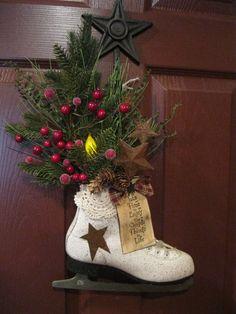 Very pretty skate winter decoration
