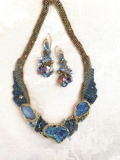 Since The Southern Highland Craft Guild has created a network of over 900 artists mountain craftspeople selling jewelry, pottery much more. Seed Bead Necklace, Seed Bead Jewelry, Beaded Earrings, Beaded Jewelry, Handmade Jewelry, Beaded Bracelets, Jewelry Sets, Jewelry Making, Bead Embroidery Jewelry