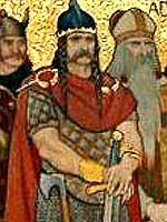 """Kenneth I """"Macalpin"""" King of Scotland (810 - 859), overcame the Picts and created a united country in the north of Scotland. This was the beginning of Scotland as a nation."""